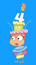 Poptropica 4th Birthday Cake Costume