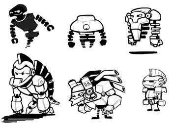 Poptropica Robots - Sketches