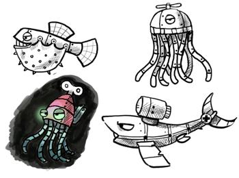 Poptropica Robots - Underwater