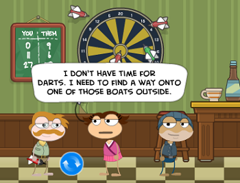 Rutty Darts in Cryptids Island