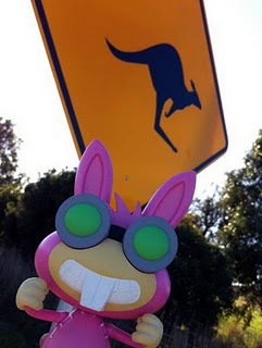 Dr. Hare with Kangaroo Sign