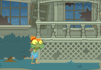 Zombies on Your Lawn in Poptropica