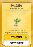 Poptropica Zombify Power Card