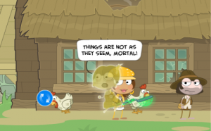 Poptropica Brown Lady Ghost in Skullduggery Island