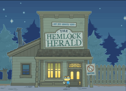 Poptropica Ghost Story Island - Hemlock Herald
