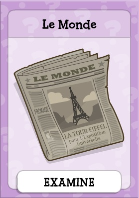 Le Monde in Mystery Island
