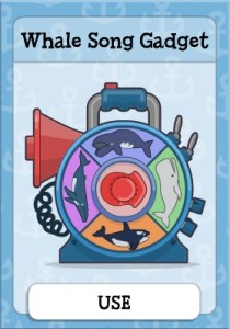 Whale Song Gadget in SOS Island