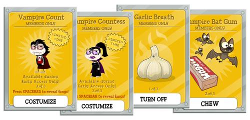 Vampire's Curse Island Cards