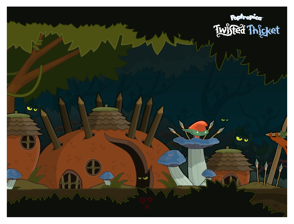 Poptropica Twisted Thicket Island Poster
