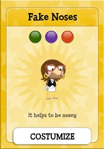 Poptropica Fake Noses Card