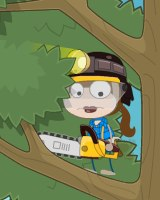 Poptropica Lumberjerk in Tree