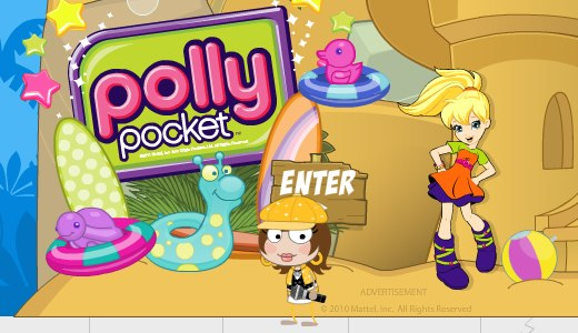 Poptropica Polly Pocket Advertisement