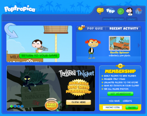 Poptropica Friends - Recent Activity