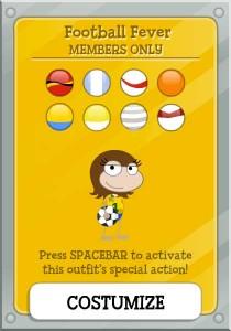 Poptropica Football Fever Card