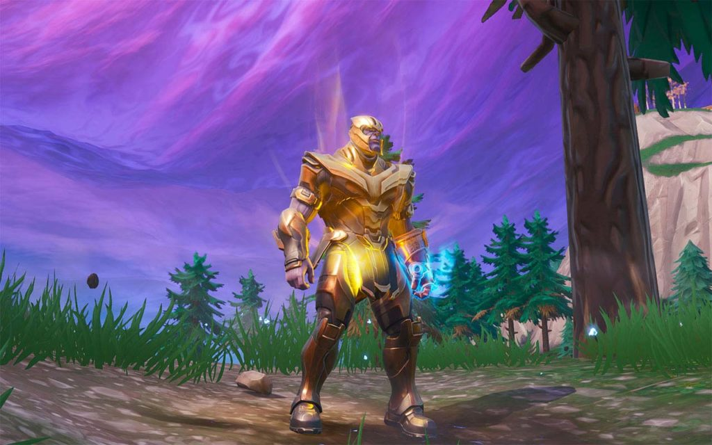Thanos in Fortnite.